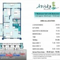 Arista Place 2 Bedroom Unit 68.40 to 70.50 sqm