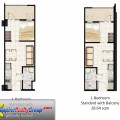 Field Residences Tower 4 1 Bedroom Standard with Balcony 28 sqm