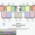 Kasara Urban Resort Residences Tower 1 Penthouse Floor Plan 28th Floor