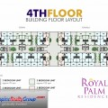 Royal Palm Residences Rawai & Kamala Building Floor Plan (4th floor)