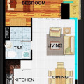 The Hudson at the Fort 1 Bedroom Unit 48 sqm